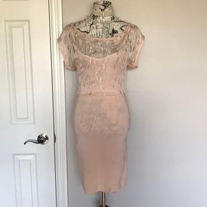 Bodycon Mesh Off Shoulder Knit Fit Cocktail Party